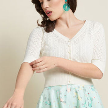 Collectif Timeless Attire Cropped Cardigan