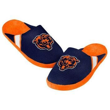 CHICAGO BEARS MEN'S OFFICIAL NFL JERSEY SLIPPERS