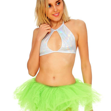 Lime Green Long Length 5-layer Tutu
