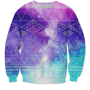 Blue Purple Pink Aztec Sweater