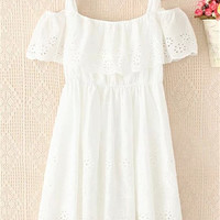 White Off Shoulder Summer Dress