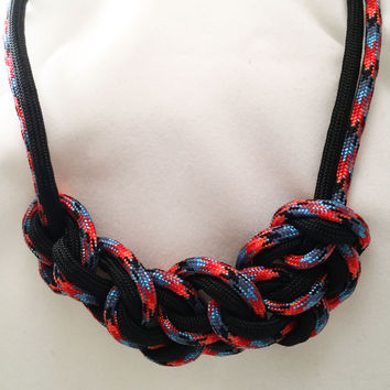 Fiery Sense Seven Paracord Heaven Knot Necklace