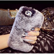 Luxury Winter Warm Furry Soft Rabbit Fur Phone Case Cover For iPhone 5 5S 5C 4 4S