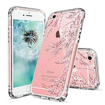 DCCKV2S iPhone 6s Case, iPhone 6 Clear Case, MOSNOVO Cherry Blossom Floral Printed Flower Clear Design Transparent Plastic Hard Back Case with TPU Bumper Gel Protective Cover for Apple iPhone 6 6s (4.7 Inch)