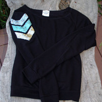 "The ""Dazzle Me Chevron"" Shirt w/ Sequin Chevron/Arrow Design Shirt - Liam Payne Tattoo"