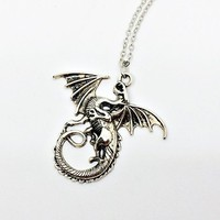 Dragon Necklace: Daenerys, House Targaryen, folklore jewelry, inspired by Game of Thrones