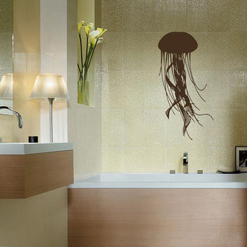 Jellyfish Medusa Wall Decals - Wall Vinyl Decal - Interior Home Decor - Housewares Art Vinyl Sticker  L74