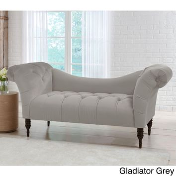 Skyline Furniture Mystere Velvet Fabric Chesterfield Loveseat | Overstock.com Shopping - The Best Deals on Sofas & Loveseats