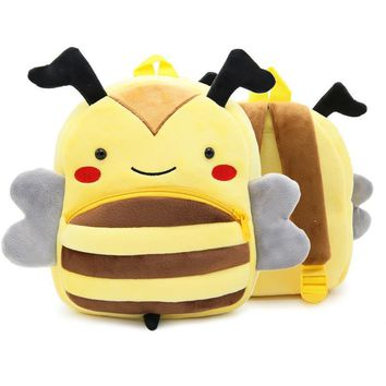 Age 2-4 Children Backpack Kindergarten Bee School Backpack Mochila Escolar Toddler Backpack Kids Bags Cute Animal Bee Shaped Bag