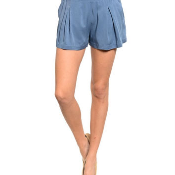 Raylene Loose Shorts- Blue