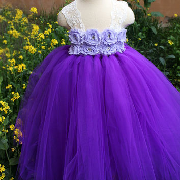 Inspired by Disney Princess Tangled Rapunzel Handmade Purple Fancy Dress Birthday Party Costume Age 5 6 7 8