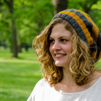 Knit Hat Stripe and Slouchy Made To Order