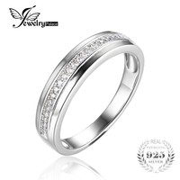 JewelryPalace Anniversary Channel Set Wedding Band Eternity Ring 925 Sterling Silver For Women New High Quality