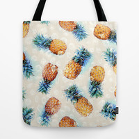 Pineapples + Crystals  Tote Bag by Micklyn