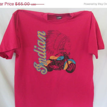 Indian Motorcycle T Shirt Etters PA Indian Sz XL