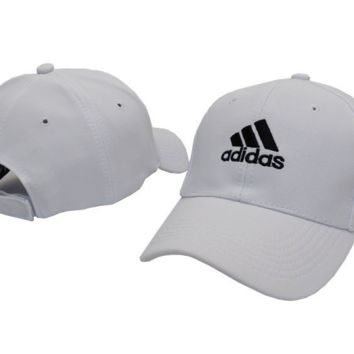 """Adidas"" Embroidered Unisex White Baseball Golf Cap Hats"