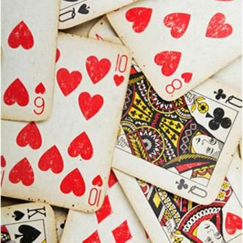 Playing Cards King Queen of Hearts Backdrop - 456