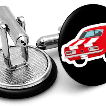 Camaro Image Red Cufflinks