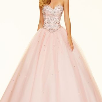Strapless Tulle Ballgown by Paparazzi by Mori Lee