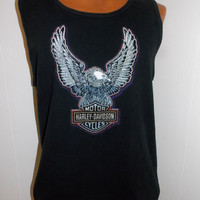 Harley Davidson Vintage 1990's Sleeveless Tank Top Mens T Shirt Size L Large