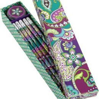 Vera Bradley Pencil Box Set in Heather