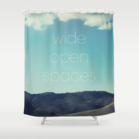 Wide Open Spaces Shower Curtain by Shawn King