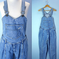 Vintage Guess Overalls / 1980s Dungarees Guess / small
