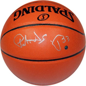 Patrick Ewing signed IO NBA Orange Basketball (Signed in Silver)