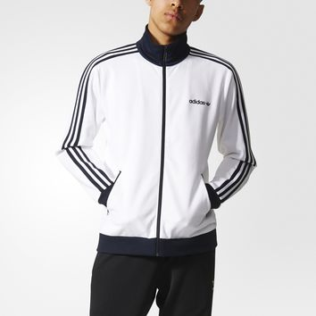 KUYOU Adidas Originals Men's Beckenbauer Track Jacket (White/Navy)