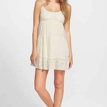 Junior Women's Rip Curl 'Dreamweave' Babydoll Dress