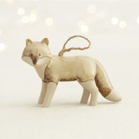 Pottery Fox Ornament