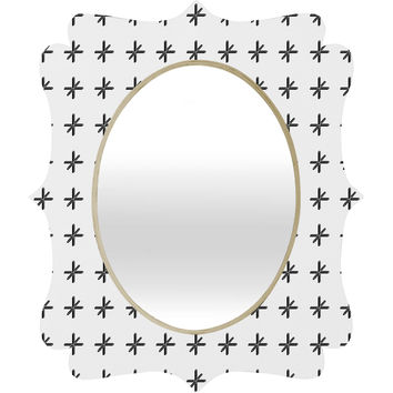 Wesley Bird Cross Out White Quatrefoil Mirror