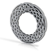Celtic Knot Circle 1 by BloomingVineDesign on Shapeways
