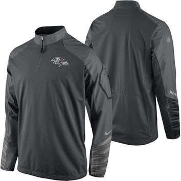 Baltimore Ravens Nike Platinum Fly Rush 2.0 Pullover Performance Jacket – Charcoal - http://www.shareasale.com/m-pr.cfm?merchantID=7124&userID=1042934&productID=551046057 / Baltimore Ravens