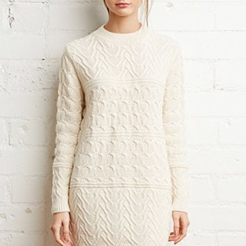 Chunky Knit Sweater Dress