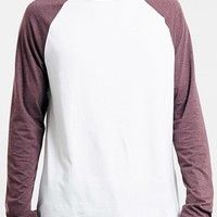 Men's Topman Raglan Long Sleeve T-Shirt