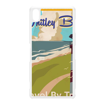Whitley Bay England White Hard Plastic Case for Sony Xperia Z3 by Nick Greenaway