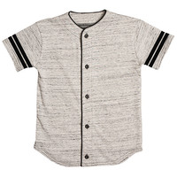 Marled French Terry Heather Gray Baseball Jersey