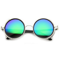 Steampunk Retro Studio Cover Revo Lens Round Sunglasses 9619