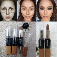 Maquiagem Bronzer 3DMakeup Highlight Contour Cream Stick Dark Color Long Lasting Contouring Foundation Face Concealer Liquid Pen
