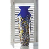 Royal Blue Summertide Art Glass Vase