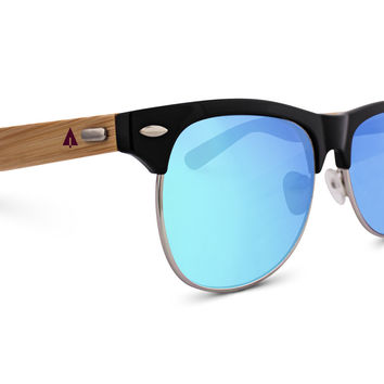 Wooden Sunglasses // Clubmaster 76
