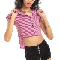 Vintage 80's Saved by the Belle Striped Top - XS