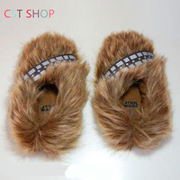 Halloween Star Wars Boys And Girls gift Indoor Chewbacca Home Furnishing Shoes for adult Winter women Cotton Slippers cosplay