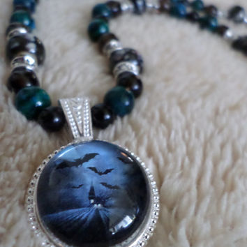Haunted House Necklace - Gothic Jewelry - Jewelry for Teens - Jewelry for Women - Autumn - Fall - Halloween Jewelry