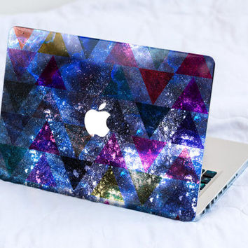 Macbook Skin Macbook Pro Skin Macbook Air Skin Macbook Cover Macbook Decal Macbook Sticker Laptop Skin Alternative triangles galaxy
