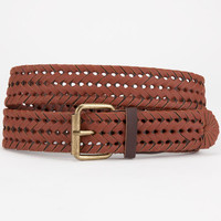 Whipstitch Braided Belt Cognac  In Sizes