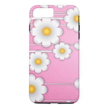 Pink Daisy iPhone 8 Plus/7 Plus Case