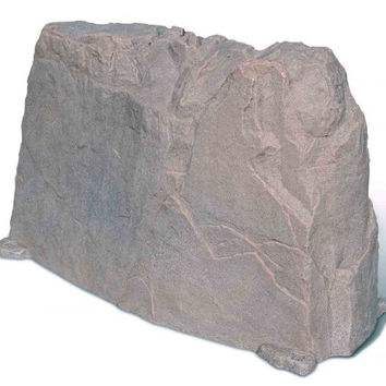 "Fake Rock Artificial Stone Backflow and Water Pump Cover 116 (Riverbed) (30""H x 20""W x 48""D)"