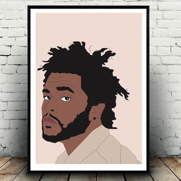 Beige/nude the weeknd wall art print/fashion poster/art print for the home! A3 in size, perfect gift for the weeknd fan!